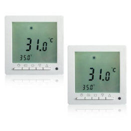 2 Stück Heizzentrale Thermostat Dispaly Digital Raumthermostat LCD Screen Fußbodenheizung programmierbar Thermostat Heating Room -