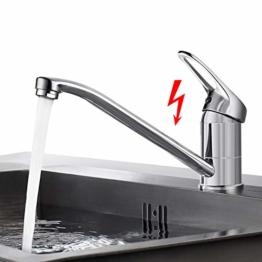 360 °drehbar Niederdruck Küchenarmatur, BONADE Niederdruckarmatur für Küche Bad Wasserhahn Niederdruck Mischbatterie Einhebelmischer Spüle Küche Spültischarmaturen Chrom - 1