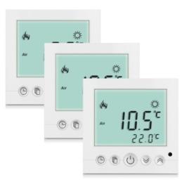 3X Weiß LCD Digital Digitaler Thermostat Raumthermostat weiss programmierbar Fußbodenheizung 16A -