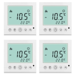 4x BYC16.H3 16A Excelvan® Weiß Heizung System Thermostat Smart Digital LDC Display Heim Raumthermostat -