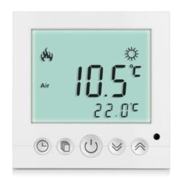 8X Weiß LCD Digital Digitaler Thermostat Raumthermostat weiss programmierbar Fußbodenheizung 16A -