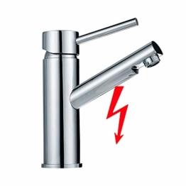 Auralum Niederdruck Wasserhahn Bad Armatur Waschtischarmatur für Kaltwasser und einen Wasserboiler - 1