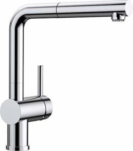 BLANCO LINUS-S – Küchenarmatur mit herausziehbarem Auslauf – Niederdruck – Chrom – 512200 - 1