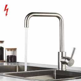 BONADE Küchenarmatur Niederdruck Armatur Küche Wasserhahn aus SUS304 Edelstahl Niederdruckarmatur Spültischarmatur Spülbecken Küchenspüle Einhebelmischer Mischbatterie - 1