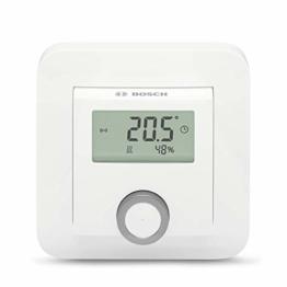 Bosch Smart Home Raumthermostat (für Fußbodenheizungen mit kabelgebundener Steuerung, 230 V, im Karton - kompatibel mit Google Assistant und Alexa) - 1