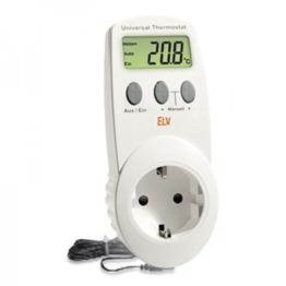 Conrad UT-200, elektronisches Universalthermostat mit Zwischenstecker, für Heiz- und Kühlbetrieb (-40 bis 99 °C) geeignet. - 1