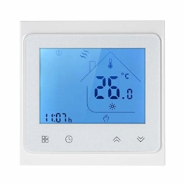 Decdeal Raumthermostat 5A Programmierbare Wifi LCD Digital Display Touchscreen Thermostat mit Sprachsteuerung Funktion 0.5 ° C Genauigkeit für Fußbodenheizung Wasserheizung - 1