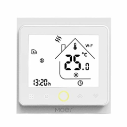 Decdeal Thermostat LCD Digital Raumthermostat Touchscreen APP Control 5A Warmwasserbereitung 0.5 ° C Genauigkeit 6 Programmierbare Perioden Temperatur Luftfeuchtigkeit PM2.5 Display Smart Home - 1