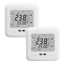 Digital Raumthermostat Heizung Hintergrundbeleuchtung 16A LCD Touch Screen Temperaturrgeler(2 PACK) -