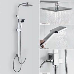 (Duschset ohne Wasserhahn) Duscharmatur Regendusche Duschbrause Duschsystem inkl Handbrause Shower Set, Höhenverstellbar 92~135cm - 1