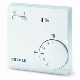 EBERLE 111110451100 Eberle RTR - E 6202 Raumtemperaturregler mit Netzschalter Ein / Aus und LED Heizen - 1