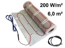 EXTHERM TWIN Heizkabel-Matte Für Elektrische Fußboden-Heizung 6m² –- Installation – 200W/m2 -- Komfortable Wärme In All Ihren Räumen – Erneuerbare Energielösung (6m²) - 1