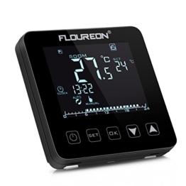 Floureon Digital Raumthermostat Thermostat elektrische Heizung Touchscreen Programmierbare Wandthermostat mit großen LCD-Display Temperaturregler Fußbodenheizung - 1