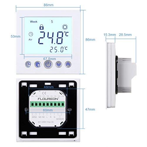 Häufig FLOUREON Raumthermostat digital Thermostat programmierbar RH05