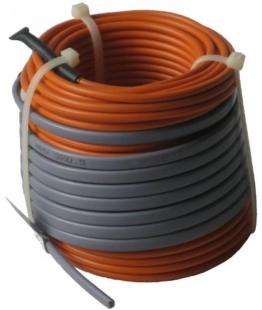 Fußbodenheizung Elektro, lose Heizleitung zum individuellen Verlegen, TWIN Technik, für 1-20 qm - Gestaltung von Wärme-Inseln möglich, Länge Heizleitung:11 m - 1