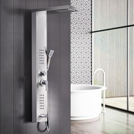 GD Duscharmaturen Regendusche Duscharmaturen Set Duschsysteme Badewanne Wasserfall-Duschwand aus Edelstahl - 1