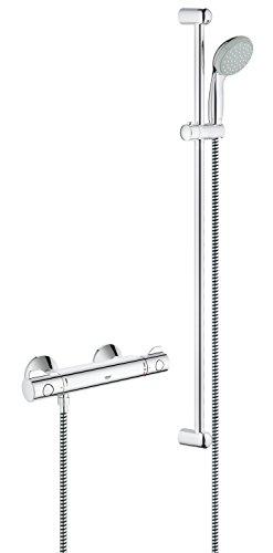 Grohe Grohtherm 800 | Brause- und Duschsysteme - Brausethermostatset | mit Tempesta Brausegarnitur, 900 mm Brausestange | 34566000 - 1