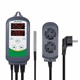 Inkbird ITC-308EU Digitale Temperaturmessung Steckerthermostat Temperature Controller Temperaturregler, Fahrenheit Celsius,℃/F Relais Thermostat Steuerung Sensor - 1