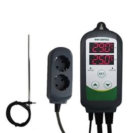Inkbird ITC-308S Schaltsteckdose Temperature Controller Temperaturregler Relais Steckdose Heizen & Kühlen Control Thermostat + 30cm Stainless Lang Sensor - 1
