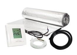 Komplett-Set elektrische Fußbodenheizung für Parkett/Laminat digitales Thermostat (8 m² - 0.5 m x 16 m) - 1