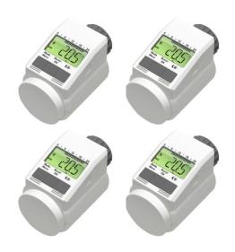 Programmierbarer Heizkörper-Thermostat (Energiesparregler) 4er-Set - 1