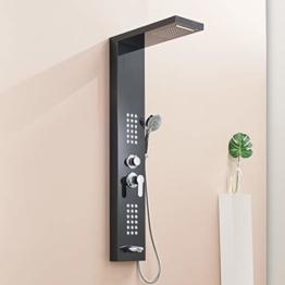 QD Duscharmaturen Regendusche Duscharmatur Set Duschsysteme Badewanne Wasserfall-Duschwand aus Edelstahl Duschpaneel - 1