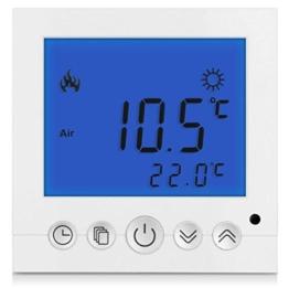SM-PC®, Digital Thermostat Raumthermostat Fußbodenheizung Wandheizung LED blau #a30 -