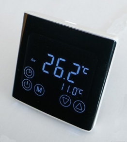 SM-PC®, Raumthermostat Thermostat programmierbar LED Touchscreen Digital schwarz #a61 -