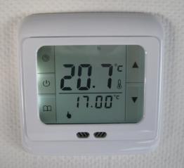 SM-PC®, Raumthermostat Thermostat programmierbar Touchscreen #832 Digital weisse Hintergrundbeleuchtung - 1