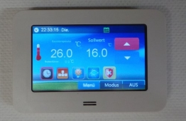 SM-PC®, Raumthermostat Thermostat programmierbar Touchscreen LED Farb-Display #901 - 1