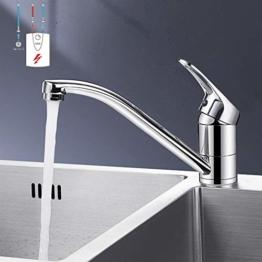 SUGU Niederdruck Küchenarmatur Spültischarmatur Küche Armatur Wasserhahn 360° Schwenkbar Mischbatterie Einhebelmischer Niederdruckarmatur Einhandhebelmischer für Untertischgerät - 1