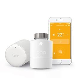 tado° Smartes Heizkörper-Thermostat Starter Kit für Wohnungen mit Heizkörper-Thermostaten (v3) - intelligente Heizungssteuerung per Smartphone -
