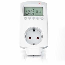 Thermostat digital - Steckdosenthermostat - Steckdosen Thermostat für Heizung Heizgeräte Infrarotheizung Kühlgeräte - programmierbar - Anti-Frost-Modus - Weiß - benutzeroptimierte Anleitung - 1