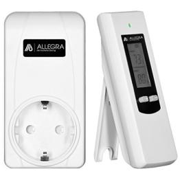 Thermostat für Heizkörper Raumthermostat Infrarotheizung mit Fernbedienung Steckerthermostat Heizkörperthermostat - 1