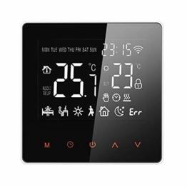 Thermostat Heizung Raumthermostat digital programmierbar Raumtemperaturregler für elektrische Fussbodenheizung Heizung Wandheizung Wandthermostat mit großer LCD-Bildschirm Weiß - 1