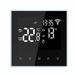 Thermostat WiFi Fußbodenheizung Smart Digitaler Programmierbare Raumthermostat 16A großem LCD-Touchscreen,APP-Steuerung Wöchentliche Zirkulation Programmierbare mit Internen Sensor und Bodensensor - 1
