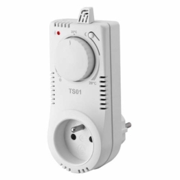 TS01 Steckdosen-Thermostat Thermo-Schaltsteckdose Nachtabsenkung Raumthermostat - 1