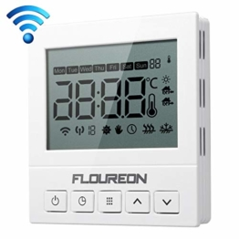 WiFi Thermostat 3A Raumthermostat digital Thermostat programmierbar Raumtemperaturregler für Fussbodenheizung Wasser Heizung Wandheizung Wandthermostat mit großer LCD-Bildschirm 230V - 1