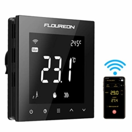 Wifi Thermostat Heizung Raumthermostat digitaler Wandthermostat programmierbar Raumtemperaturregler für Fussbodenheizung elektrische Heizung Wandheizung mit großer LCD-Bildschirm 230V 16A - 1