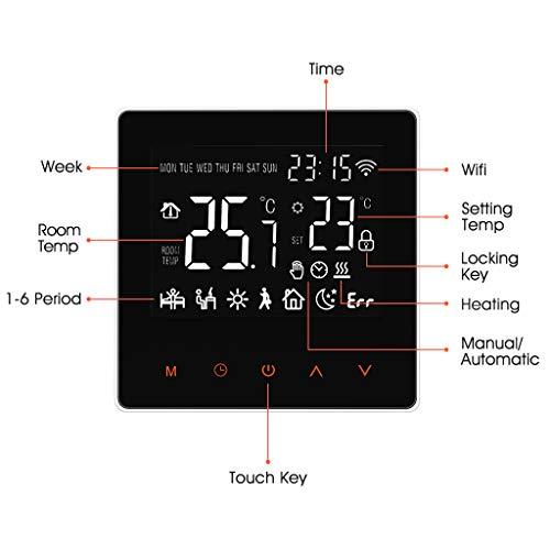 Thermostat Heizung Raumthermostat digitaler Wandthermostat programmierbar Raumtemperaturregler f/ür elektrische Fussbodenheizung Wandheizung mit gro/ßer LCD-Bildschirm 230V 16A