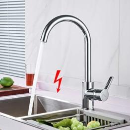WOOHSE Niederdruck Wasserhahn Küche 360° Drehbar Einhandmischer Mischbatterie für Spüle Küche, Niederdruckarmatur für Druckloser Warmwasserspeicher oder Untertischgeräte eingesetzt - 1