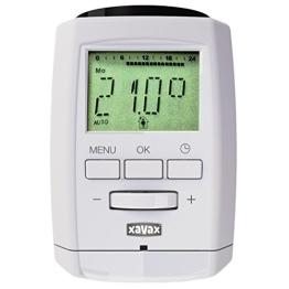 Xavax Heizkörperthermostat (Bluetooth Smart, kostenlose App, kabellose Steuerung via Smartphone/Tablet, Fenster & Urlaubsfunktion, Timer, Kindersicherung) Made in Germany - 1